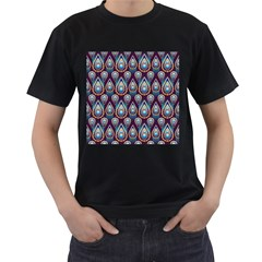Seamless Pattern Pattern Men s T Shirt (black) (two Sided)