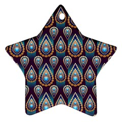 Seamless Pattern Pattern Star Ornament (two Sides)