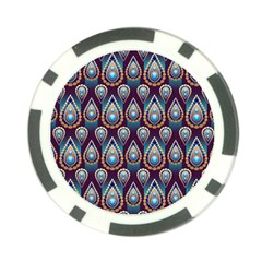Seamless Pattern Pattern Poker Chip Card Guard (10 Pack)
