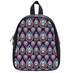 Seamless Pattern Pattern School Bag (small)