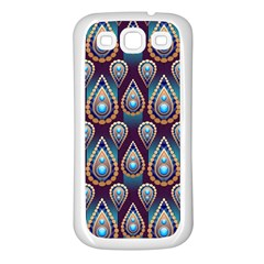 Seamless Pattern Pattern Samsung Galaxy S3 Back Case (white)