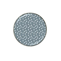 Floral Dots Blue Hat Clip Ball Marker (10 Pack) by snowwhitegirl