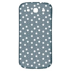 Floral Dots Blue Samsung Galaxy S3 S Iii Classic Hardshell Back Case by snowwhitegirl