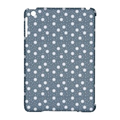 Floral Dots Blue Apple Ipad Mini Hardshell Case (compatible With Smart Cover) by snowwhitegirl