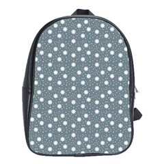 Floral Dots Blue School Bag (xl) by snowwhitegirl