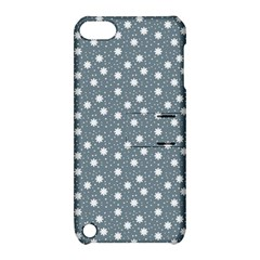 Floral Dots Blue Apple Ipod Touch 5 Hardshell Case With Stand by snowwhitegirl