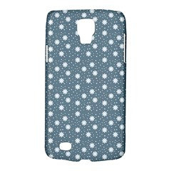 Floral Dots Blue Galaxy S4 Active by snowwhitegirl