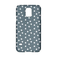 Floral Dots Blue Samsung Galaxy S5 Hardshell Case  by snowwhitegirl