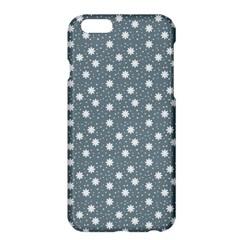 Floral Dots Blue Apple Iphone 6 Plus/6s Plus Hardshell Case by snowwhitegirl