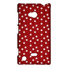 Floral Dots Red Nokia Lumia 720 by snowwhitegirl
