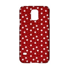 Floral Dots Red Samsung Galaxy S5 Hardshell Case  by snowwhitegirl