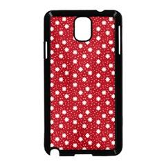Floral Dots Red Samsung Galaxy Note 3 Neo Hardshell Case (black) by snowwhitegirl