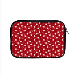 Floral Dots Red Apple Macbook Pro 15  Zipper Case by snowwhitegirl