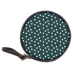 Floral Dots Teal Classic 20 Cd Wallets by snowwhitegirl