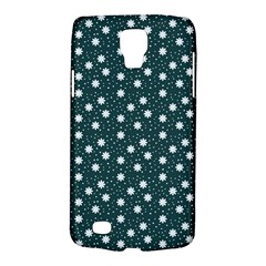 Floral Dots Teal Galaxy S4 Active by snowwhitegirl