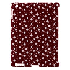 Floral Dots Maroon Apple Ipad 3/4 Hardshell Case (compatible With Smart Cover) by snowwhitegirl