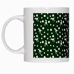 Dinosaurs Green White Mugs by snowwhitegirl