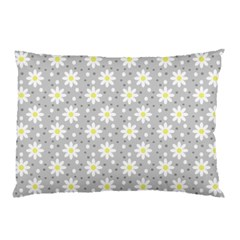 Daisy Dots Grey Pillow Case (two Sides) by snowwhitegirl