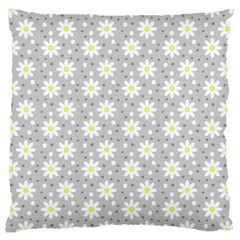 Daisy Dots Grey Large Cushion Case (two Sides) by snowwhitegirl