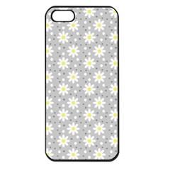 Daisy Dots Grey Apple Iphone 5 Seamless Case (black) by snowwhitegirl