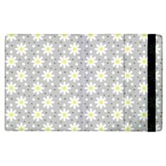 Daisy Dots Grey Apple Ipad 3/4 Flip Case by snowwhitegirl