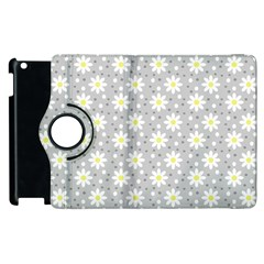 Daisy Dots Grey Apple Ipad 3/4 Flip 360 Case by snowwhitegirl