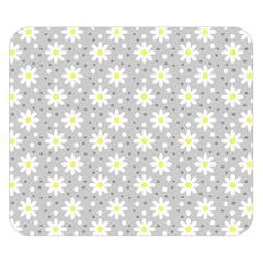 Daisy Dots Grey Double Sided Flano Blanket (small)  by snowwhitegirl