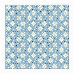 Daisy Dots Light Blue Medium Glasses Cloth by snowwhitegirl