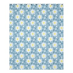 Daisy Dots Light Blue Shower Curtain 60  X 72  (medium)  by snowwhitegirl