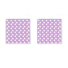 Daisy Dots Lilac Cufflinks (square) by snowwhitegirl