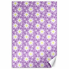 Daisy Dots Lilac Canvas 20  X 30   by snowwhitegirl
