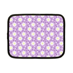 Daisy Dots Lilac Netbook Case (small)  by snowwhitegirl