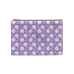 Daisy Dots Lilac Cosmetic Bag (medium)  by snowwhitegirl