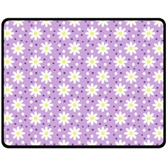 Daisy Dots Lilac Fleece Blanket (medium)  by snowwhitegirl