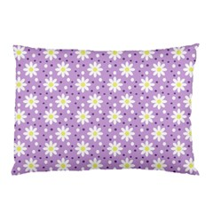 Daisy Dots Lilac Pillow Case (two Sides) by snowwhitegirl