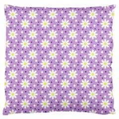 Daisy Dots Lilac Large Cushion Case (two Sides) by snowwhitegirl
