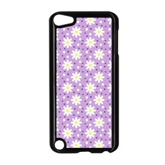 Daisy Dots Lilac Apple Ipod Touch 5 Case (black) by snowwhitegirl