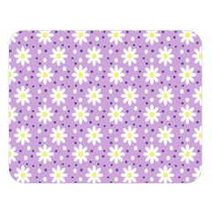 Daisy Dots Lilac Double Sided Flano Blanket (large)  by snowwhitegirl