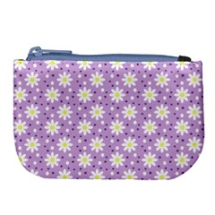 Daisy Dots Lilac Large Coin Purse by snowwhitegirl