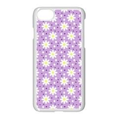 Daisy Dots Lilac Apple Iphone 7 Seamless Case (white) by snowwhitegirl