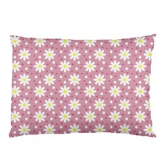 Daisy Dots Pink Pillow Case (two Sides) by snowwhitegirl