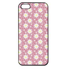 Daisy Dots Pink Apple Iphone 5 Seamless Case (black) by snowwhitegirl