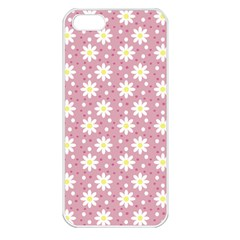 Daisy Dots Pink Apple Iphone 5 Seamless Case (white) by snowwhitegirl