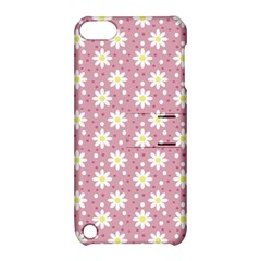 Daisy Dots Pink Apple Ipod Touch 5 Hardshell Case With Stand by snowwhitegirl