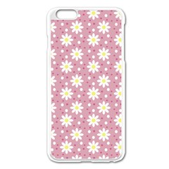 Daisy Dots Pink Apple Iphone 6 Plus/6s Plus Enamel White Case by snowwhitegirl