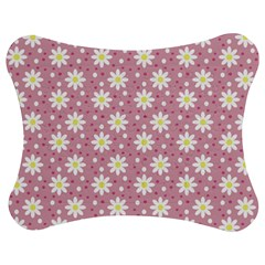 Daisy Dots Pink Jigsaw Puzzle Photo Stand (bow) by snowwhitegirl