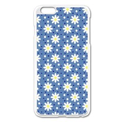 Daisy Dots Blue Apple Iphone 6 Plus/6s Plus Enamel White Case by snowwhitegirl