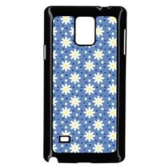 Daisy Dots Blue Samsung Galaxy Note 4 Case (black) by snowwhitegirl