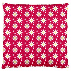 Daisy Dots Light Red Large Cushion Case (two Sides) by snowwhitegirl