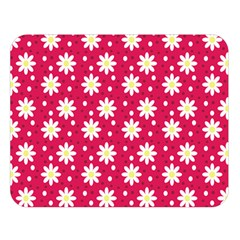Daisy Dots Light Red Double Sided Flano Blanket (large)  by snowwhitegirl